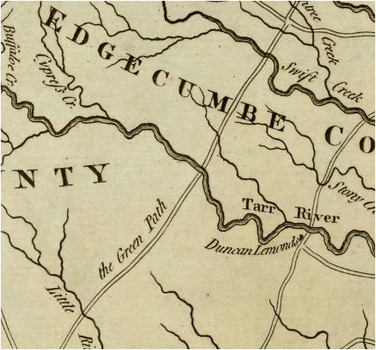 Detail from the 1775 Mouzon map, courtesy of the David Rumsey Collection