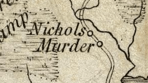 Murder, NC on 1794 map from the David Rumsey Map Collection