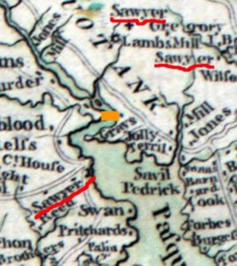 Detail from the 1770 Churton-Collet map, courtesy of the Library of Congress