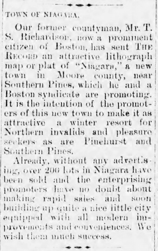 """From the Dec. 4, 1902 issue of """"The Chatham Record"""" (Pittsboro, NC), courtesy of the North Carolina Digital Heritage Center"""