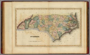 1823 Fielding Lucas map of North Carolina