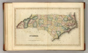 1822 Fielding Lucas map of North Carolina