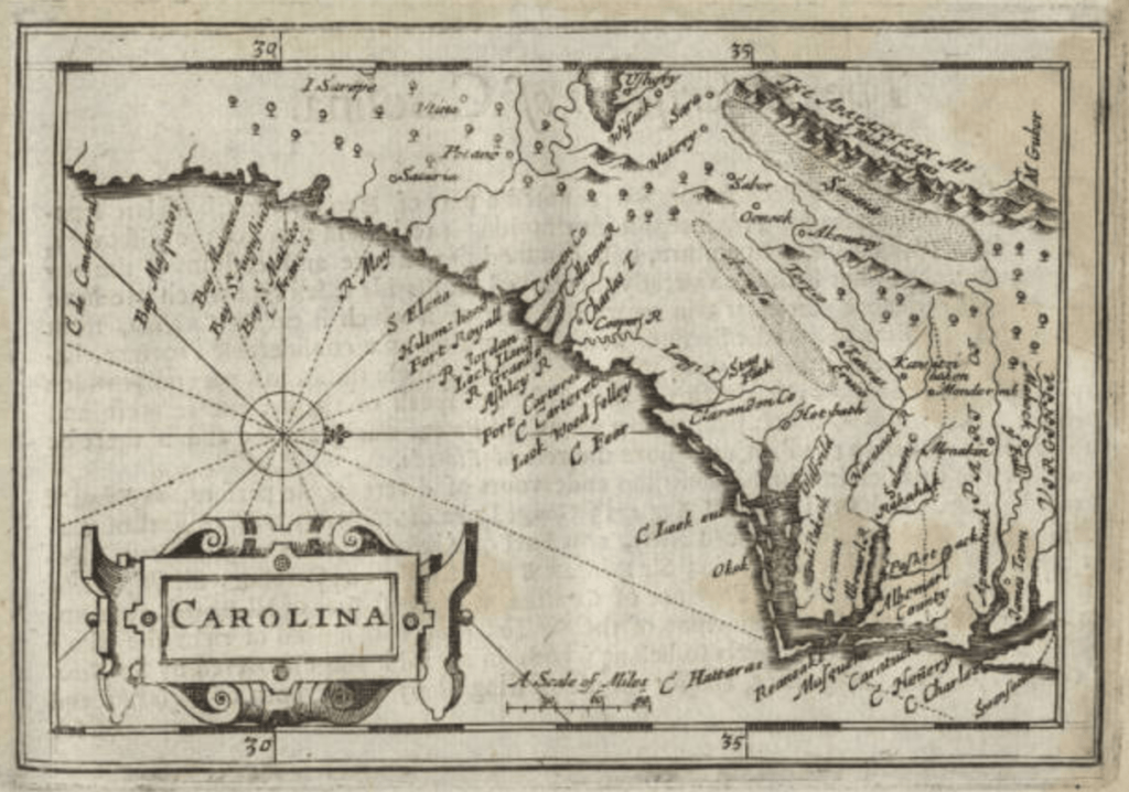 Miniature maps - 1675 Carolina