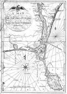 Joshua Potts's map of Cape Fear River