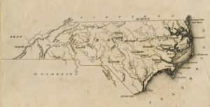 1822 school atlas map of North Carolina