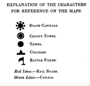 Explanation for characters used on Mitchell's Series of Outline Maps