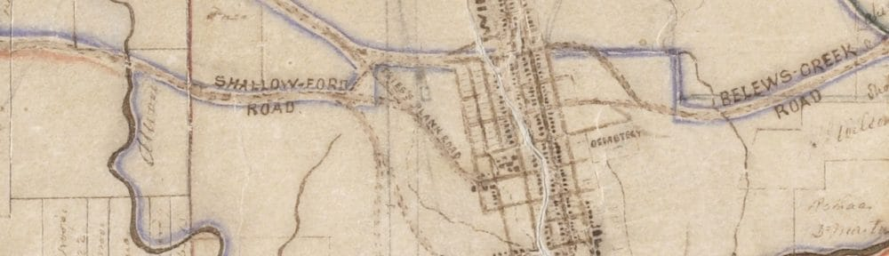 Salem and Winston on 1863 manuscript map