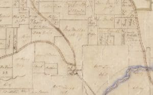 Detail of Vogler's map