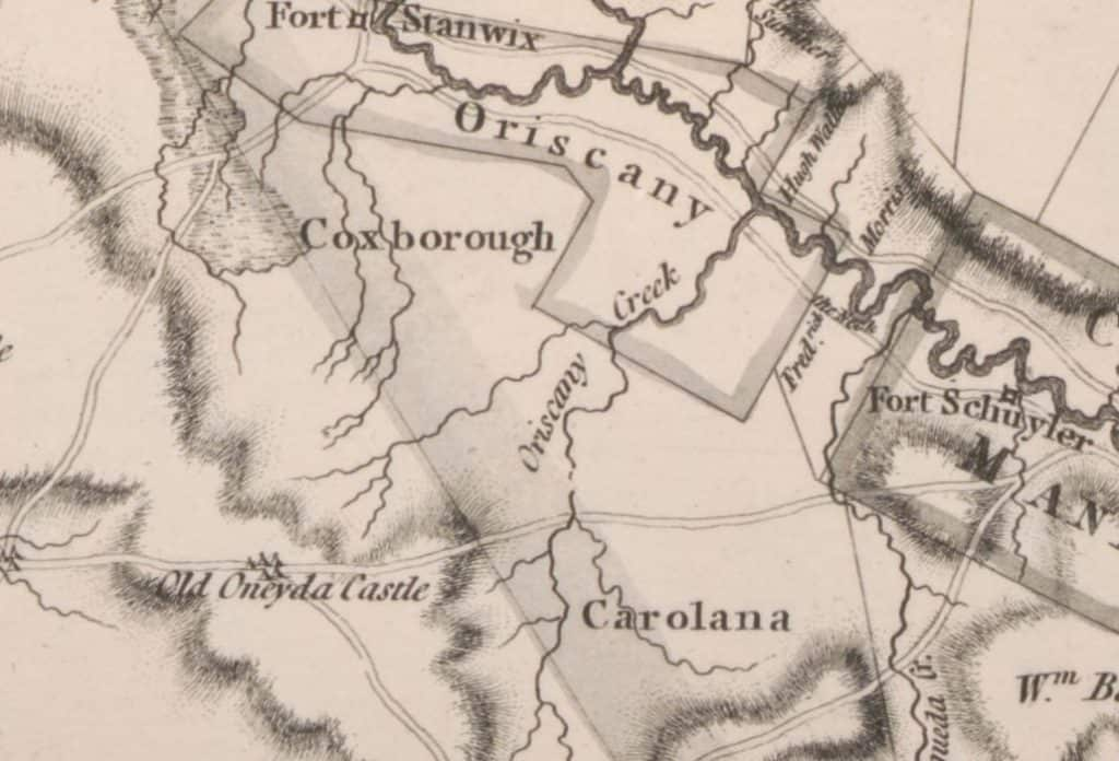 Carolana on 1779 map of New York