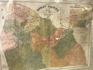 1904 Rowan County map