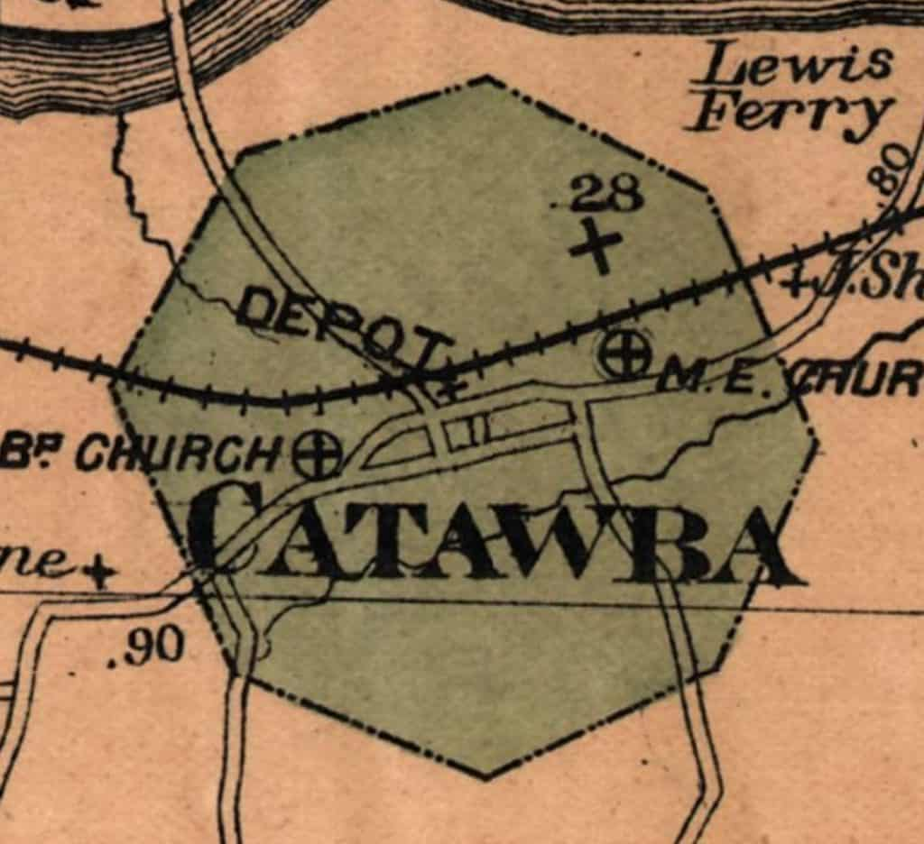 octagonal shape of the Town of Catawba