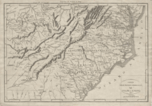 early 19th century Italian map of the Carolinas