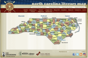 North Carolina Literary Map web site hosted by University Libraries at UNC-Greensboro