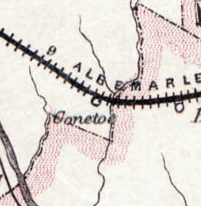 Conetoe on 1884 map